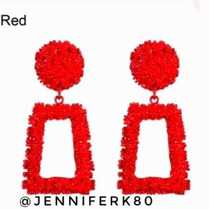 Brand new! Red Statement Earrings